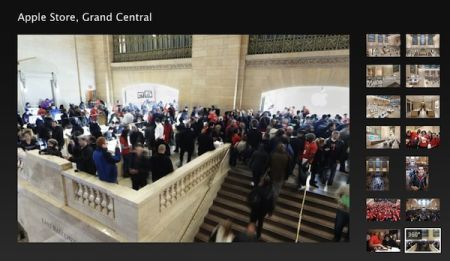Visita l'Apple Store Grand Central a 360° da iPhone e Safari