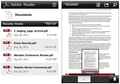 Adobe rilascia Adobe Reader per iPhone e iPad
