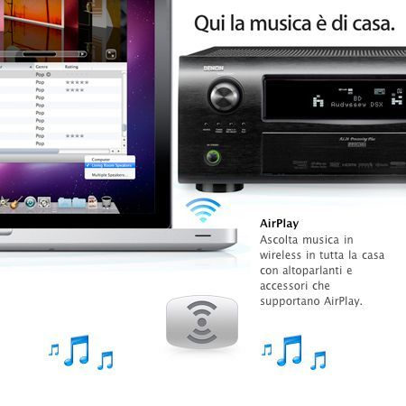 Airplay attraverso Bluetooth: rumors affermano un' estensione di AirPlay