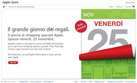 Apple Black Friday, il giorno dei grandi sconti è venerdì 25 novembre