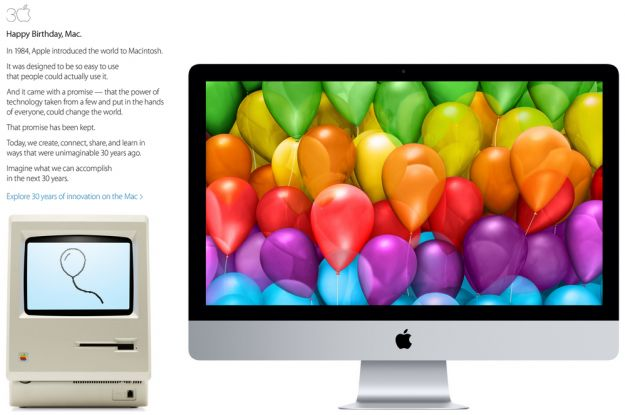 Apple festeggia 30 anni di Mac [VIDEO]