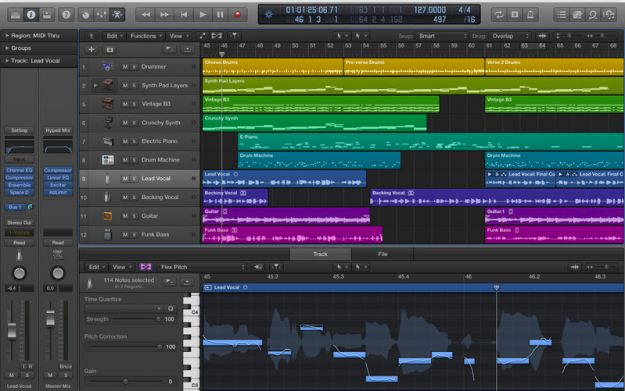 apple logic pro presenta