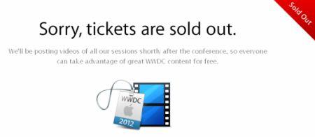 WWDC 2012, Apple annulla alcuni biglietti venduti