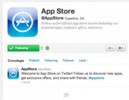 App Store approda su Twitter con l'account ufficiale