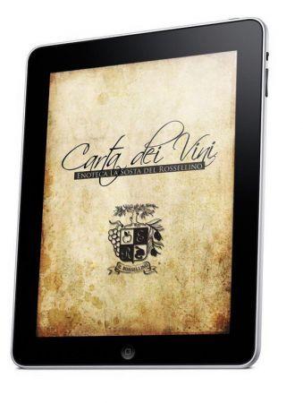 Carta dei vini per iPad