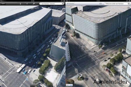 iOS 6: Google Earth 3D si aggiorna, confronto con Apple Mappe