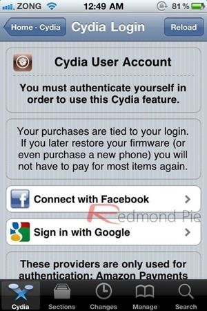 Jailbreak: Cydia Store, con il prossimo aggiornamento si sincronizzerà con Facebook