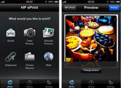 HP ePrint per iPhone
