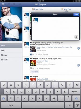Facebook per iPad nascosto nell'app ufficiale di FaceBook