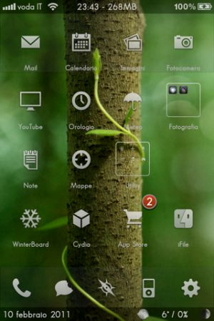 Temi: fiftyfootshadowsHD, per un iPhone 4 e 3GS più elegante