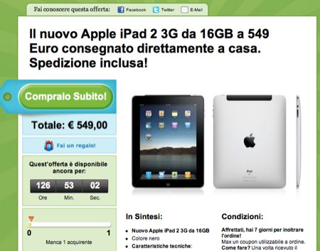 iPad 2 3G da 16 GB e iPhone 4 bianco da 16 GB in offerta speciale su Groupon