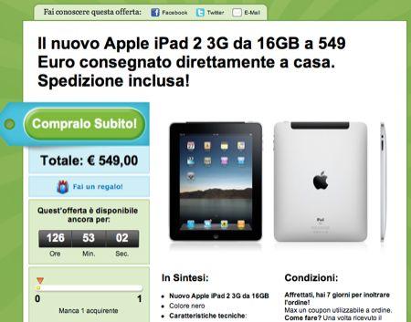 iPad 2 3G da 16 GB e iPhone 4 bianco da 16 GB in offerta speciale su Groupon