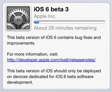 iOS 6 beta 3, caratteristiche e novità della nuova release