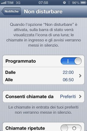 iOS 6 introduce la modalità Non Disturbare in iPhone