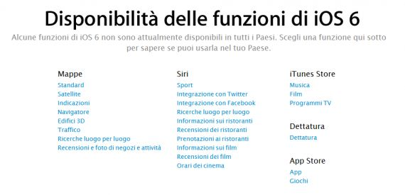 ios6 funzioni italia ipnews
