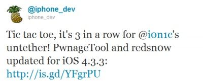 Jailbreak untethered iOS 4.3.3 rilasciato ufficialmente dal Dev-Team