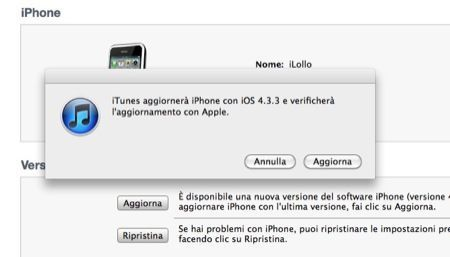 iOS 4.3.3 ufficialmente disponibile su iTunes per iPhone, iPad e iPod Touch