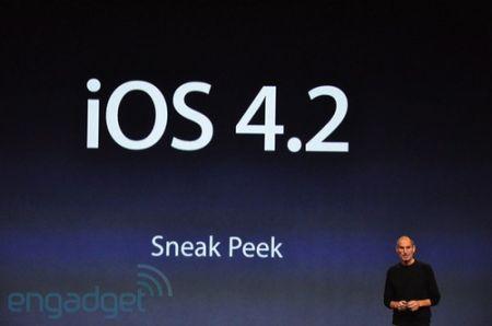 Steve Jobs e l'iOS 4.2