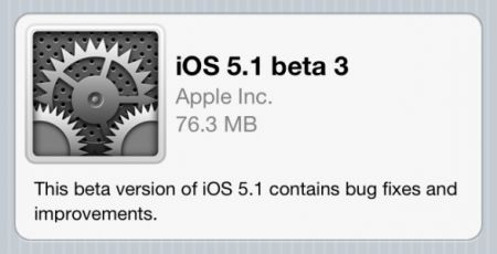 Apple rilascia iOS 5.1 beta 3 agli sviluppatori