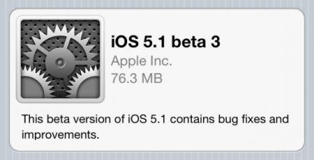 Apple rilascia iOS 5.1 beta 3 agli sviluppatori