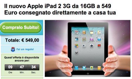 iPad 2 3G 32 GB in offerta speciale su Groupon solo per oggi [29 luglio]