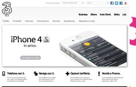 Ufficiale: iPhone 4S disponibile anche con 3