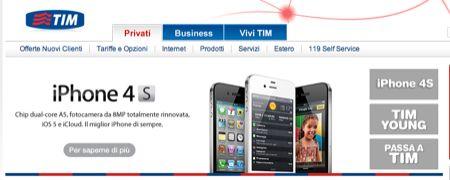 iPhone 4S, ecco le offerte di TIM per abbonamenti e ricaricabili