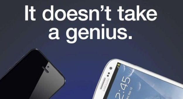 iPhone 5 vs Samsung Galaxy S3: non serve un genio secondo uno spot