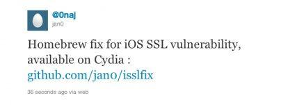 Rilasciato in Cydia il pacchetto isslfix che migliora la sicurezza in Safari