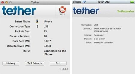 iTether, rimossa immediatamente l'app per il tethering gratis