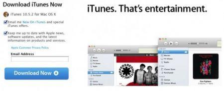 Apple rilasica iTunes 10.5.2 ufficiale