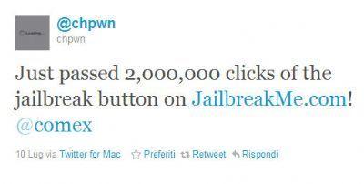 Jailbreak iPad 2: JailbreakMe supera i 2 milioni di sblocchi