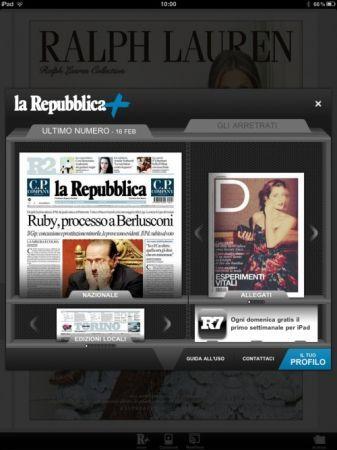 Repubblica+ per iPad si aggiorna con diverse novità