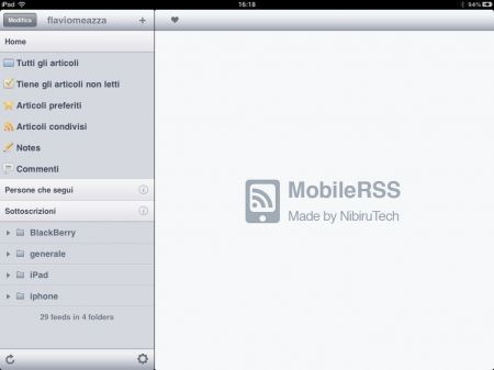 MobileRSS per iPhone, l'applicazione per accedere a Google Reader da iPhone