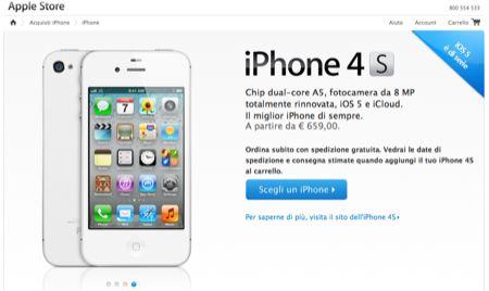 iPhone 4S: prenotazioni, quanto costa in Italia e tempi di spedizione