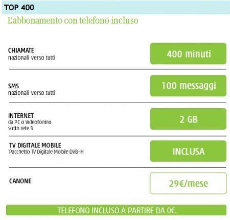 3 Italia iPhone 4 TOP 400