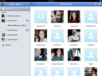 Skype per iPad nuovamente disponibile in App Store