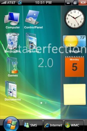 tema windows vista per iPhone