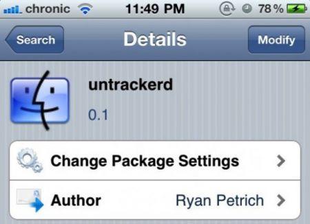 Untrackerd, l'app Cydia che protegge la nostra Privacy cancellando le coordinate GPS
