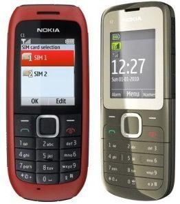 Nokia C1-00 e C2-00: cellulari economici Dual Sim