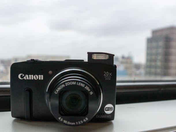 Canon PowerShot SX280 HS vista sul fronte