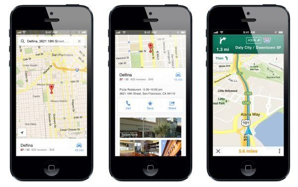 Google Maps iPhone 5