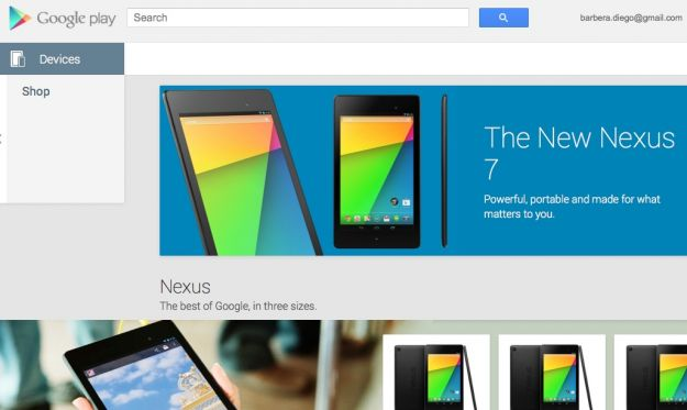 Google Play Store Devices anche in Italia: Nexus in arrivo