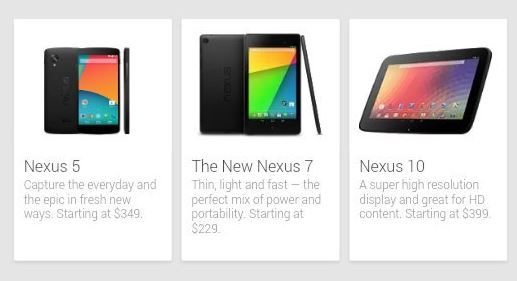 Nexus 5 appare online