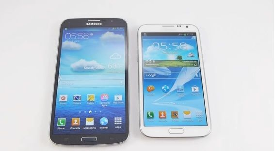 Samsung Galaxy Mega Vs Galaxy Note 2