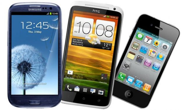 Samsung Galaxy S3 vs iPhone 4S vs HTC One X