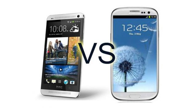 Samsung Galaxy S4 vs HTC One smartphone Android