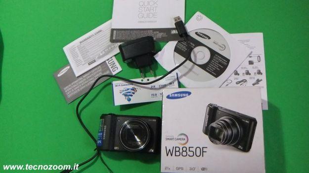 Samsung WB850F contenuto confezione acquisto