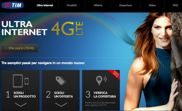 4G LTE, TIM lancia anche in Italia la banda ultra larga mobile