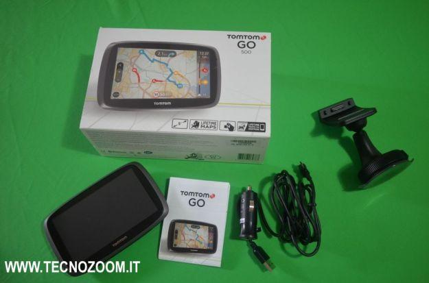 TomTom GO 500 interno confezione acquisto